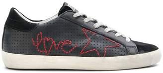 Golden Goose Superstar love sneakers
