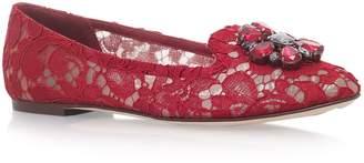 Dolce & Gabbana Lace Vally Embellished Flats