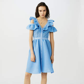 Maje Sleeveless basketweave dress