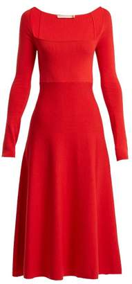 Brock Collection Kimmie Cotton And Silk Blend Dress - Womens - Red
