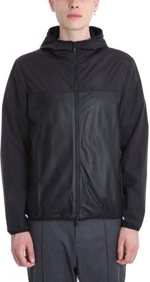 Ermenegildo Zegna Black Leather And Nylon Jacket