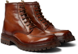 Officine Creative Manchester Burnished-Leather Boots