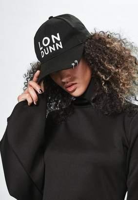 Missguided Londunn + Black Double Ring Logo Cap