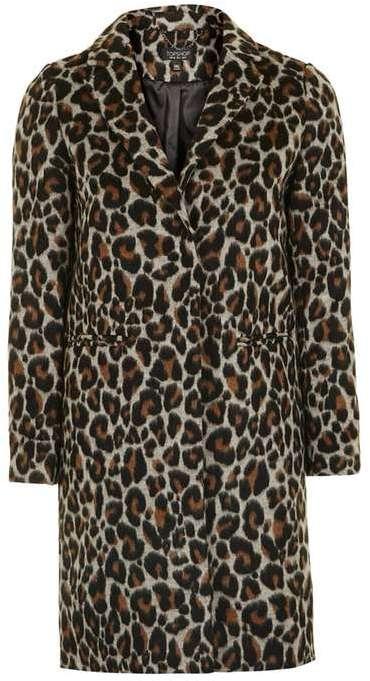 TopshopTopshop Leopard print coat