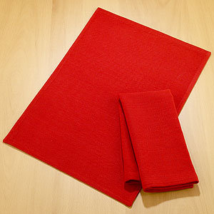 Red Diamond Dobby Placemats or Napkins Sets of 4