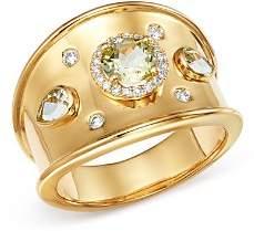 Kiki McDonough 18K Yellow Gold Jemima Lemon Quartz & Diamond Ring