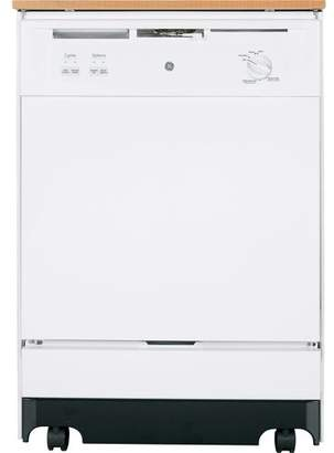 "GE Appliances 24"" 64 dBA Portable Dishwasher with Front Controls"