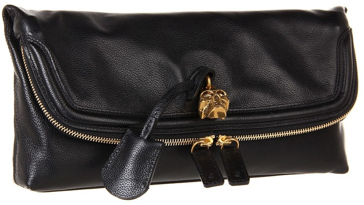 Alexander McQueen Padlock Clutch (Black) - Bags and Luggage