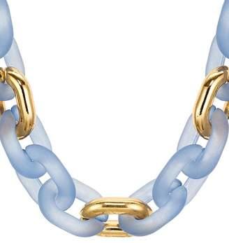 "Aqua Short Lucite Link Necklace, 37"" - 100% Exclusive"
