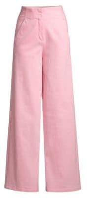 Tibi Demi Garment Washed Crop Jeans