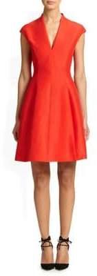 Halston Cotton-Silk Structured Dress