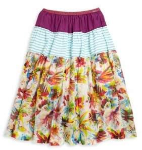 Junior Gaultier Toddler's, Little Girl's& Girl's Floral Long Skirt
