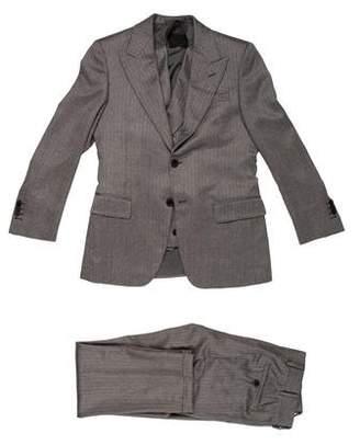 Prada Cashmere Herringbone Suit