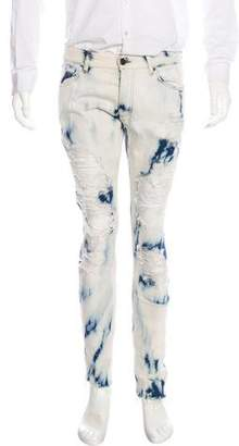 Palm Angels Distressed Bleached Skinny Jeans