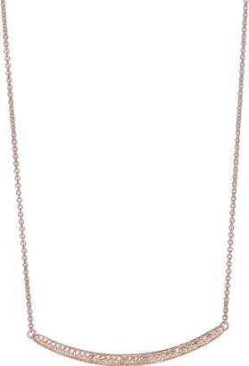 Monica Vinader Skinny curve 18ct rose gold-plated diamond necklace
