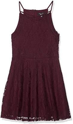 New Look 915 Girl s Glitter Lace Skater Dress 770d85679