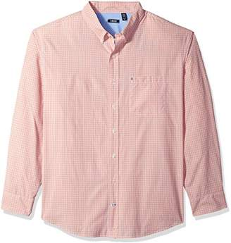 Izod Men's Breeze Plaid Long Sleeve Shirt (Big & Tall)