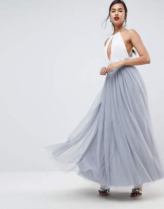 Asos Design Tulle Maxi Prom Skirt