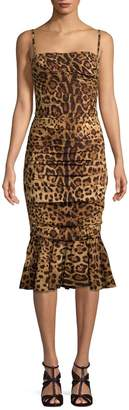 Dolce & Gabbana Women's Leopard Print Sheath Dress