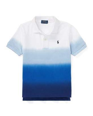 Ralph Lauren Dip Dye Short-Sleeve Knit Polo, Size 2-4