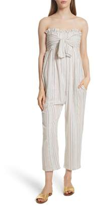 Apiece Apart Gipsea Metallic Stripe Strapless Jumpsuit