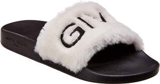 Givenchy Fur Logo Slide