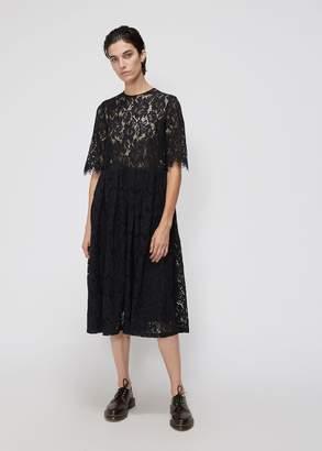 Ganni Short Sleeve Lace Dress