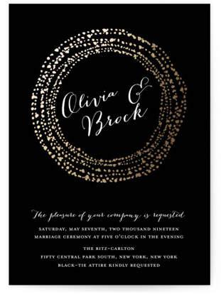 Black-Tie Foil-Pressed Wedding Invitations