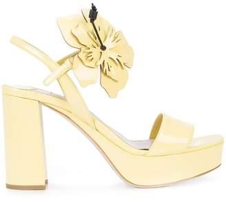 Miu Miu oversized flower platform sandals