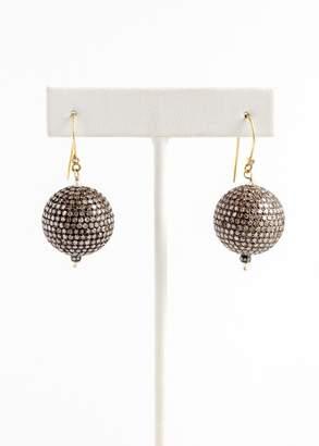 Vinesh small diamond ball earrings (Default)