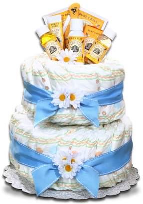 Burt's Bees Baby Baby Organic Diaper Cake Gift Basket - Boy