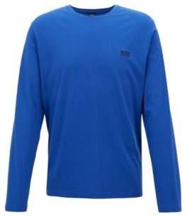 BOSS Hugo Regular-fit loungewear top in stretch cotton jersey M Open Blue