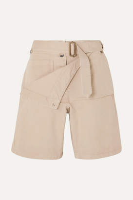 J.W.Anderson Belted Cotton-drill Shorts - Beige