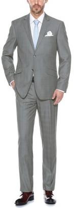Verno Men's Stylish Windowpane Slim Fit Notch Lapel Suit