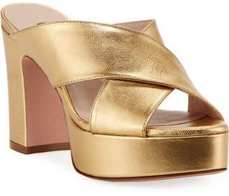 Stuart Weitzman Teddy Patent Platform Sandals