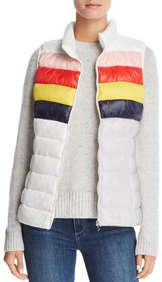 Aqua Packable Rainbow-Stripe Puffer Vest - 100% Exclusive