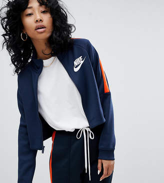 Nike N98 Polyknit Track Jacket In Blue And Orange