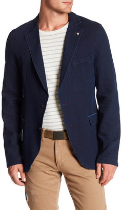 Ron Tomson Elbow Patched Fitted Sport Coat $310 thestylecure.com