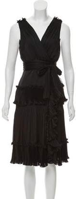 Diane von Furstenberg Ruffled Knee-Length Dress