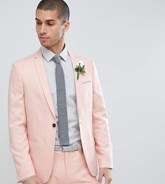 Noak skinny wedding suit jacket in crosshatch