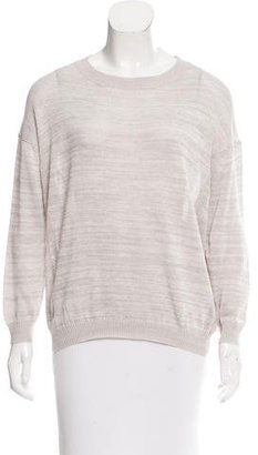 Inhabit Mélange Semi-Sheer Sweater w/ Tags $75 thestylecure.com