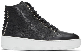 McQ Alexander McQueen Black Netil Eyelet High-Top Sneakers $375 thestylecure.com