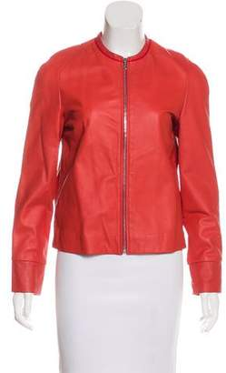 Cacharel Leather Zip-Up Jacket w/ Tags