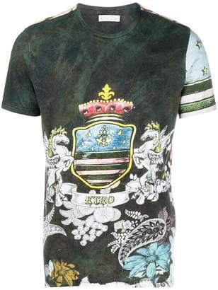 Etro crest print T-shirt