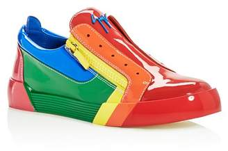 Giuseppe Zanotti Men's Rainbow Leather & Patent Leather Sneakers