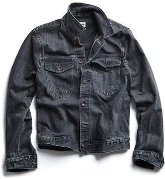 Todd Snyder Japanese Stretch Selvedge Destroyed Black Wash Denim Jacket