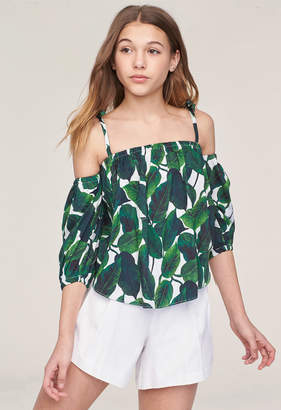 Milly MINIS BANANA LEAF COLD SHOULDER TOP