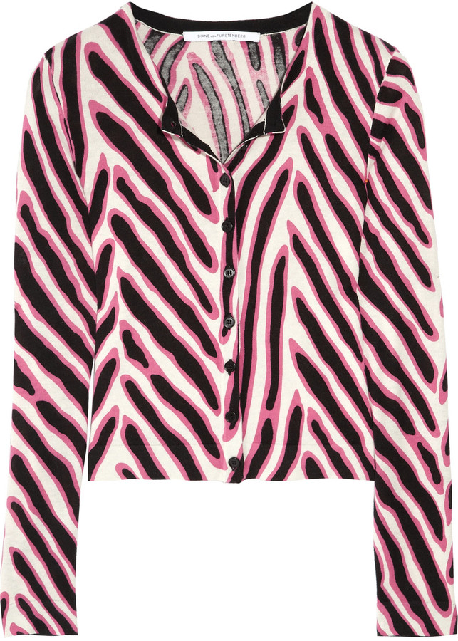 Diane von Furstenberg Ibiza cotton and silk-blend cardigan