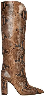 Paris Texas Python-Embossed Leather Knee-High Boots