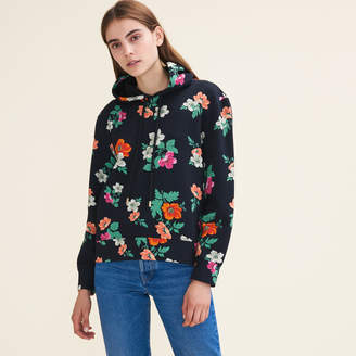 Maje Printed hooded sweatshirt